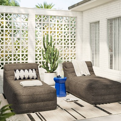 Bowman Sloped Quilted Patio Chaise Lounge - Project 62™