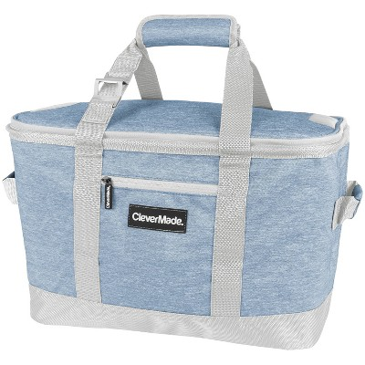 CleverMade Tahoe Soft Sided Leakproof Collapsible 32qt Cooler Bag