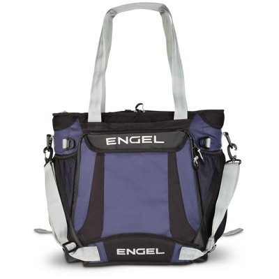 Engel ENGCB2-NAVY 23 Quart Lightweight High Performance Insulated Water Resistance Soft Sided Collapsible Backpack Cooler Bag with Handles, Navy
