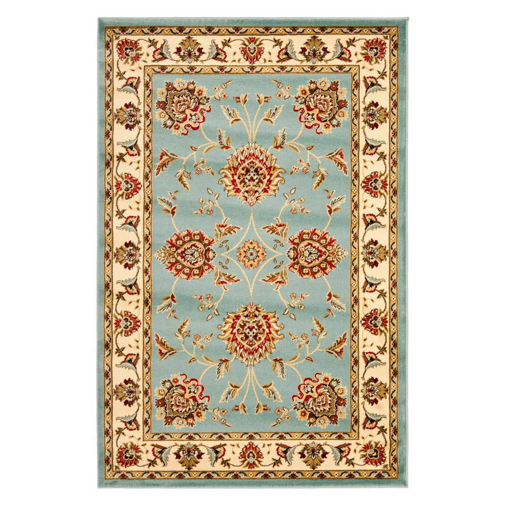 33X53 Floral Loomed Accent Rug Blue/Ivory - Safavieh Cheap