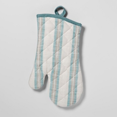 Stripe Oven Mitt Aqua - Threshold™