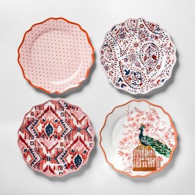 Melamine Dinner Plates 10.5  Red/Pink Set of 4 - Opalhouse™