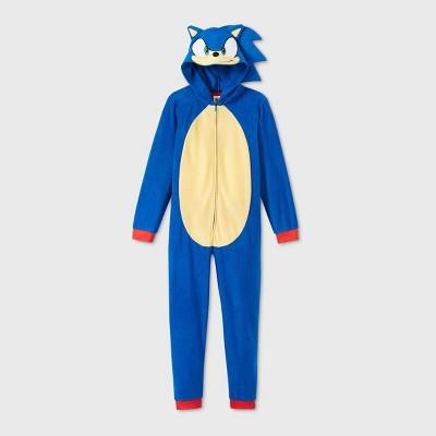 Boys' Sonic the Hedgehog Blanket Sleeper Union Suit - Blue