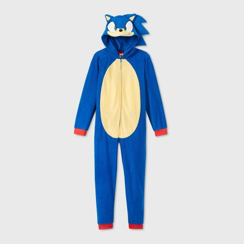 Boys Sonic The Hedgehog Blanket Sleeper Union Suit Blue S Target