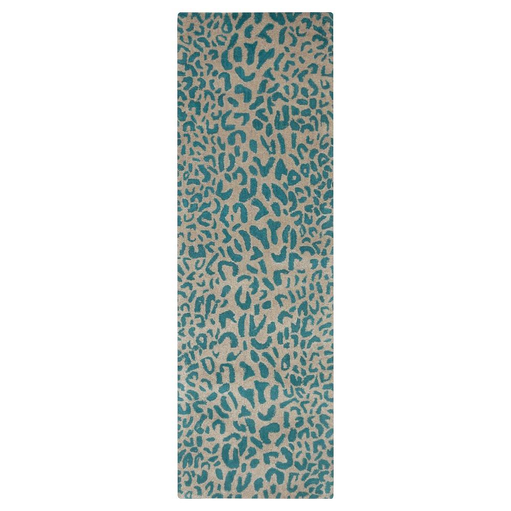 Bicauri Area Rug - Dark Green, Camel - (3' x 12') - Surya