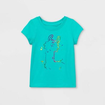 Toddler Girls' Llama Short Sleeve T-Shirt - Cat & Jack™ Teal