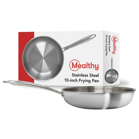 Mealthy 10FRYPAN 10-Inch Stainless Steel Professional-Grade 3mm Thick 5 Layer Composite Construction Frying Pan - image 1 of 4