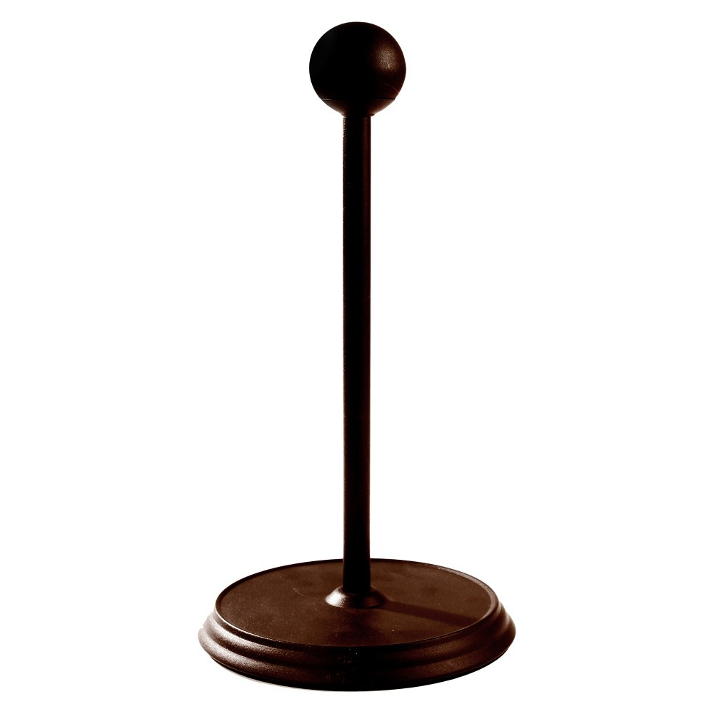 Luna Paper Towel Holder - Bronze The Luna Paper Towel Holder is a great way to store and display your paper towels. The sturdy padded base protects countertops from scratches, while the removable ball finial easily unscrews to change rolls. Made of sturdy steel. Color: Bronze.
