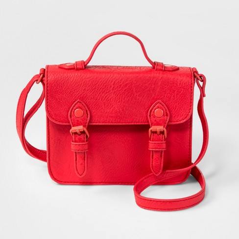 Girls' Top Handle Crossbody Bag - Cat & Jack™ Red - image 1 of 2