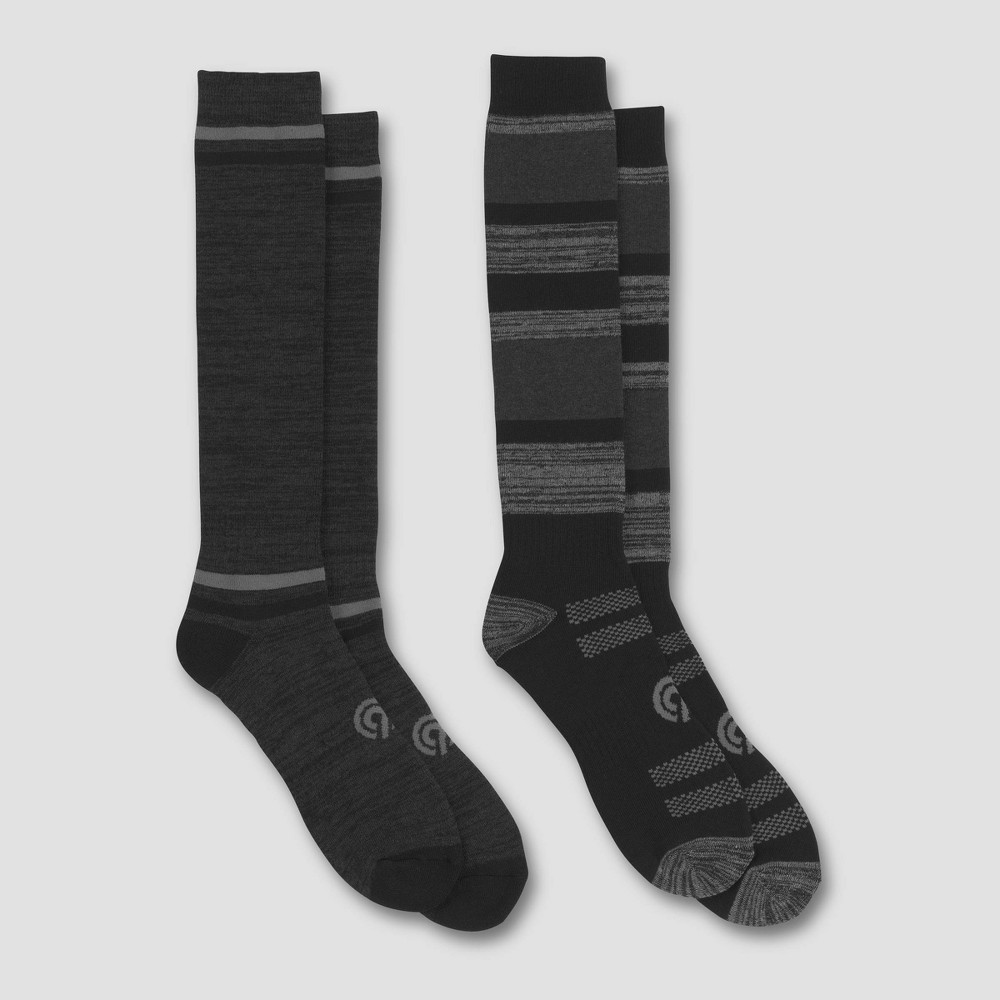 Image of Men's Outdoor Heavyweight Wool Blend Crew Socks 2pk - C9 Champion 6-12, Men's, Size: Small, MultiColored