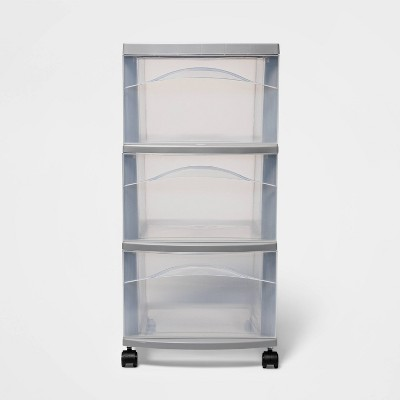 Medium 3 Drawer Cart Gray - Room Essentials™