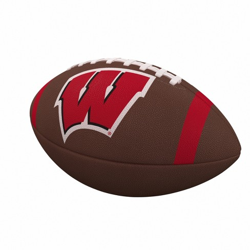 NCAA Wisconsin Badgers Team Stripe Official-Size Composite Football - image 1 of 1