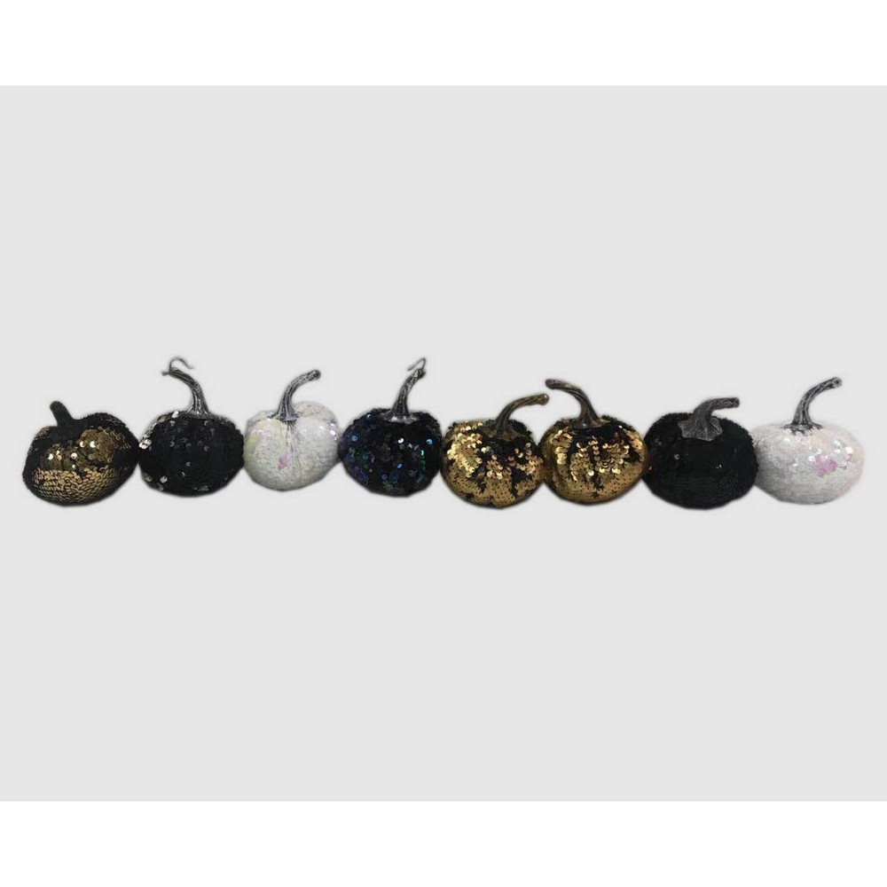 8pc Mini Sequin Pumpkins - Bullseye's Playground was $8.0 now $4.0 (50.0% off)