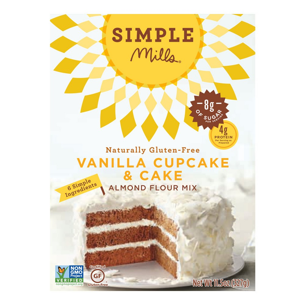 Simple Mills Gluten Free Vanilla Cake Almond Flour Mix 11.5 oz