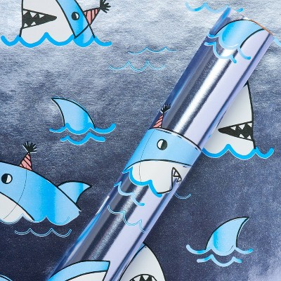 Sharks with Hats Kids' Wrapping Paper - Spritz™