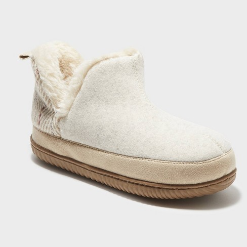 Women's dluxe by dearfoams Dolly Bootie Slippers - Taupe - image 1 of 4