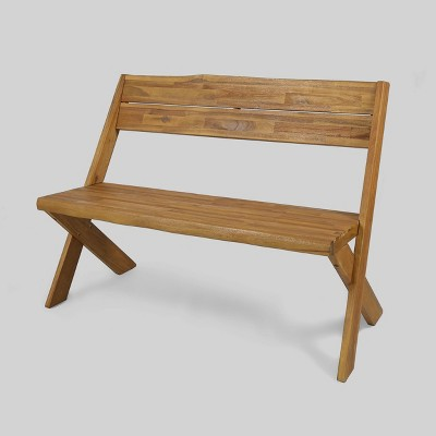 Eaglewood Acacia Wood Bench - Teak - Christopher Knight Home