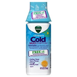 Vicks Children's Cold Multi-Symptom Day Relief Liquid - Acetaminophen - Orange - 6 fl oz