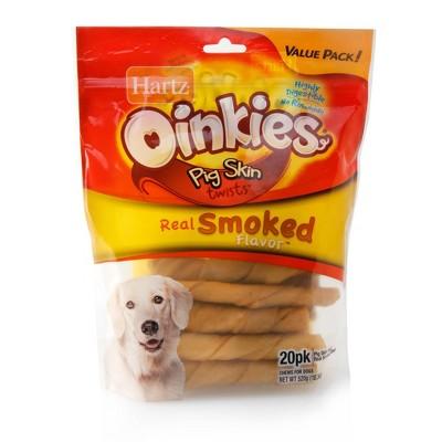 Hartz Oinkies Pig Skin Twist Chews - 20ct