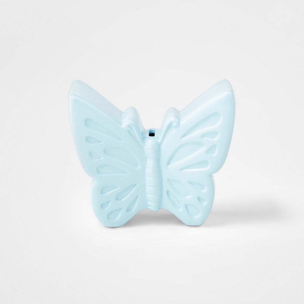 Image of Butterfly Coin Bank Blue - Pillowfort
