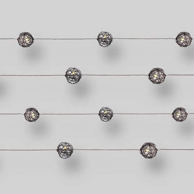 20ct LED Microdot Lights Wire Orbs - Clear Bulbs - Threshold™