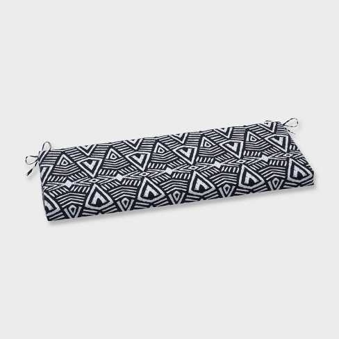 Tribal Dimensions Outdoor Bench Cushion Black - Pillow Perfect - image 1 of 1