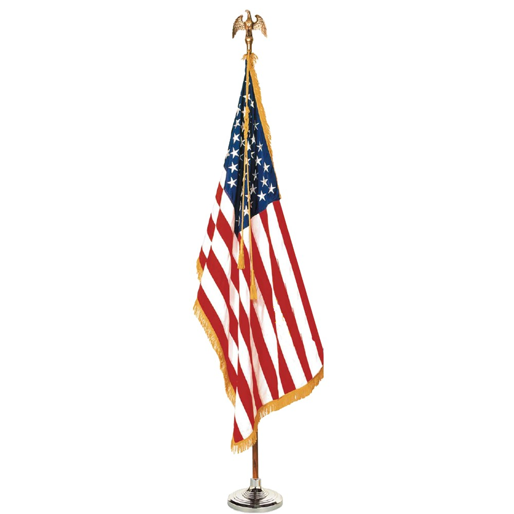 Image of Halloween Colonial Nyl-Glo US Flag Set - 5' x 8'