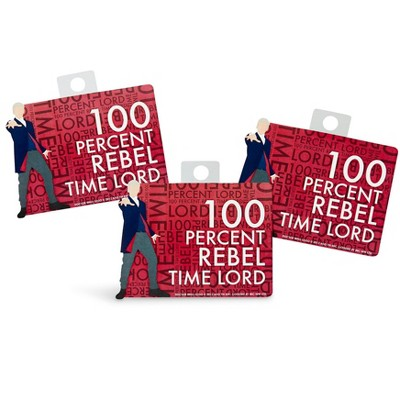 """Seven20 Doctor Who Sticker """"100% Rebel Time Lord"""""""