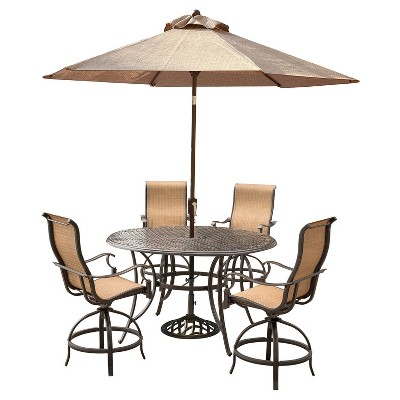 Patio Bar Set With Umbrella Taihan