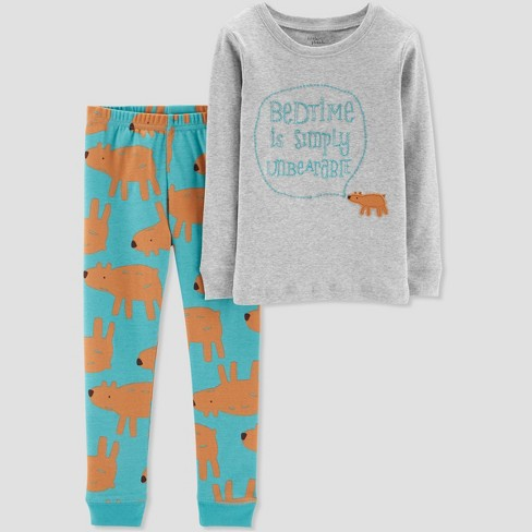 f41c6abc7 Baby Boys  2pc Bedtime Is Simply Unbearable Pajama Set - Little ...