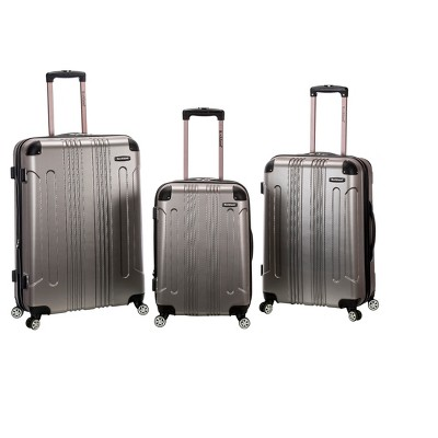 Rockland 3pc ABS Luggage Set - Silver