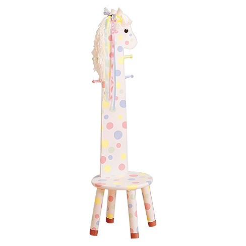 Fantasy Fields Safari Stool with Coat Rack Wood/Pony - Teamson - image 1 of 4