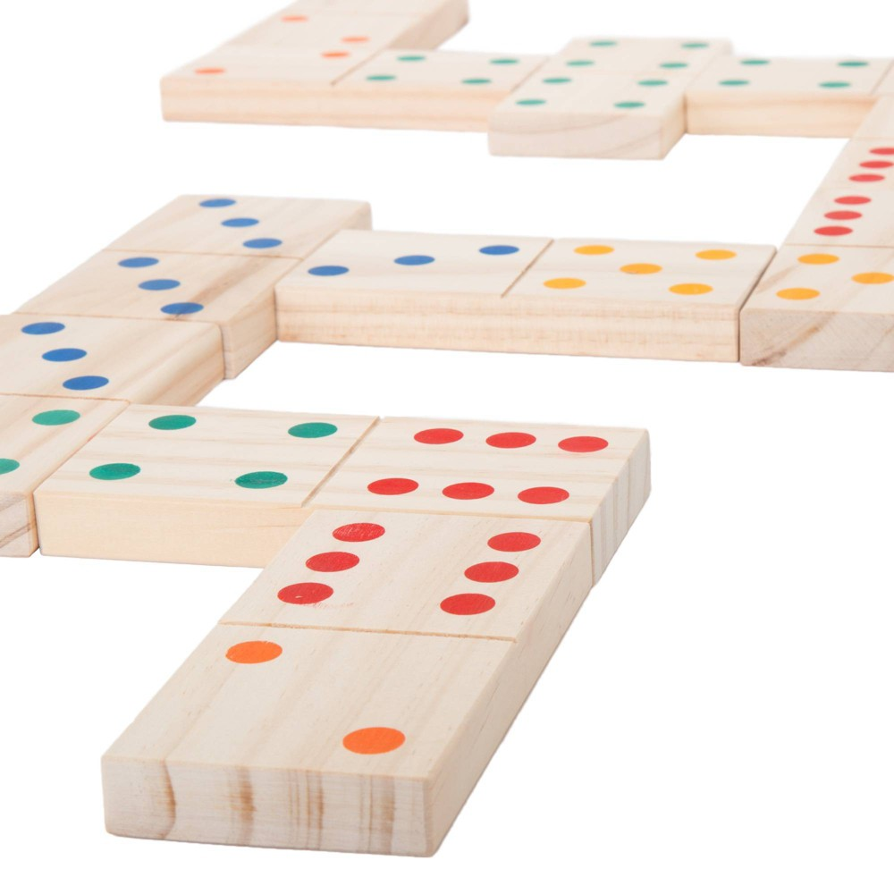 Image of Hey! Play! Giant Wooden Dominoes Set