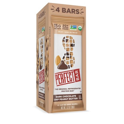 Perfect Bar Dark Chocolate Chip Peanut Butter Protein Bar - 2.3oz/4pk