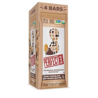 Perfect Bar Dark Chocolate Chip Peanut Butter Protein Bar - 9.2oz/4ct