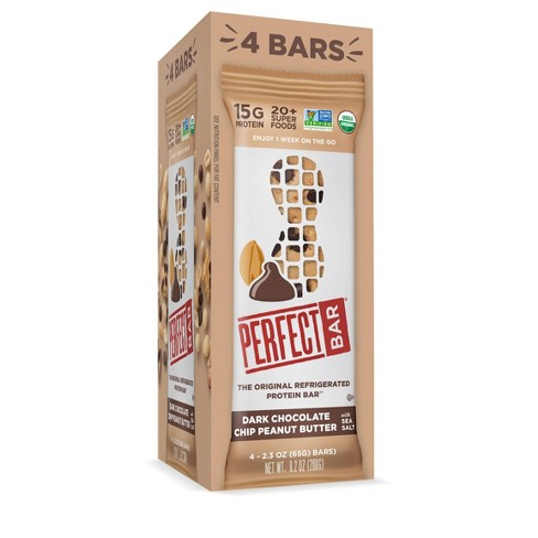Perfect Bar Dark Chocolate Chip Peanut Butter Protein Bar - 9.2oz/4ct - image 1 of 4
