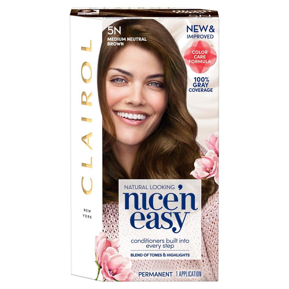 Image of Clairol Nice 'N Easy Permanent Hair Color - 5N Medium Neutral Brown - 1 Kit