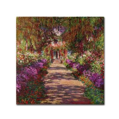 "24"" x 24"" A Pathway in Monet's Garden by Claude Monet - Trademark Fine Art"