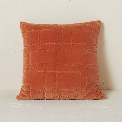 Quilted Cotton Velvet Throw Pillow - Opalhouse™ designed with Jungalow™