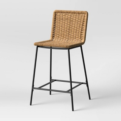 Wasson Woven Metal Leg Counter Height Barstool Tan - Project 62™