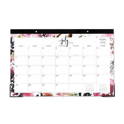 2019-2020 Desk Calendar Pink Watercolor - Kelly Ventura for Blue Sky