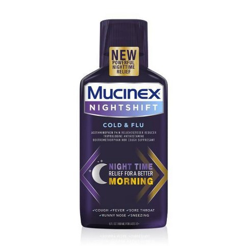 Mucinex Night Shift Cold & Flu Liquid - 6 fl oz - image 1 of 4