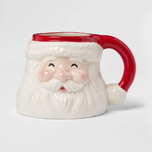 15oz Stoneware Santa Christmas Mug Threshold Target