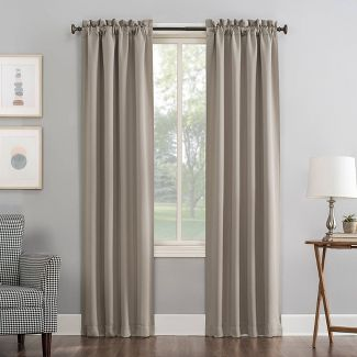 "84""x40"" Kenneth Rod Pocket Blackout Curtain Panel Beige - Sun Zero"
