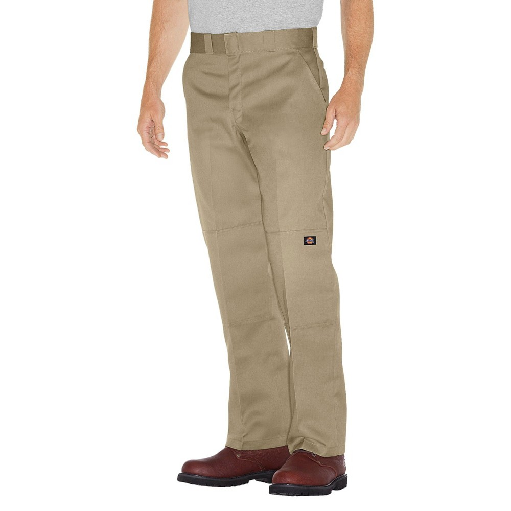 Dickies Men's Relaxed Straight Fit Twill Double Knee Work Pants- Desert Sand 34x34