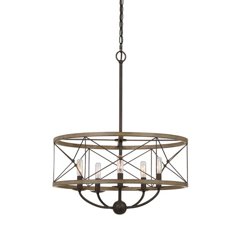 "Modica Metal Pendant Fixture Ivory 26.5""x16.3"" - Cal Lighting - image 1 of 2"