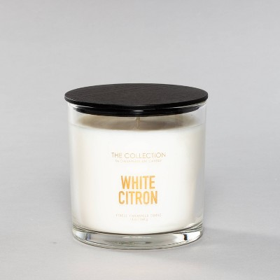 13oz Glass Jar 2-Wick Candle White Citron - The Collection By Chesapeake Bay Candle