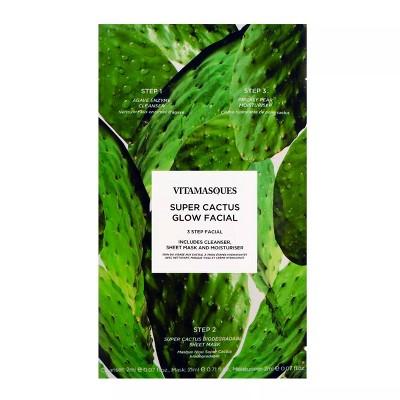 Vitamasques 3-Step Facial Mask - Cactus - 0.71 fl oz