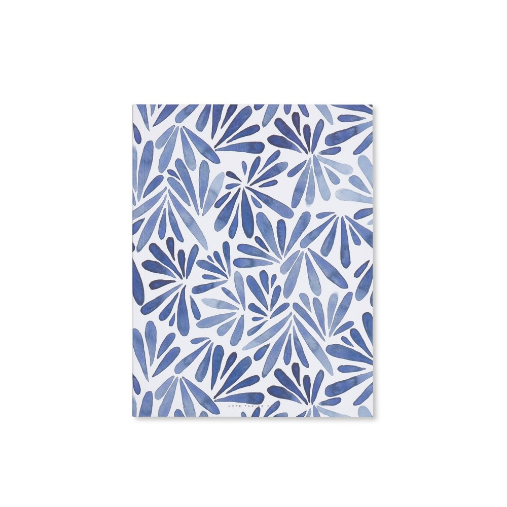 Image of Special Lined Petal Patterned Composition Notebook Blue - West Emory