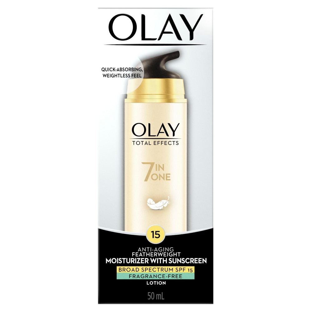 Unscented Olay Total Effects Featherweight Moisturizer with Spf 15 - 1.7 fl oz